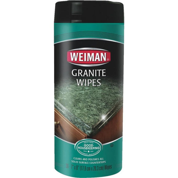Weiman, Granite Wipes, 30 ct