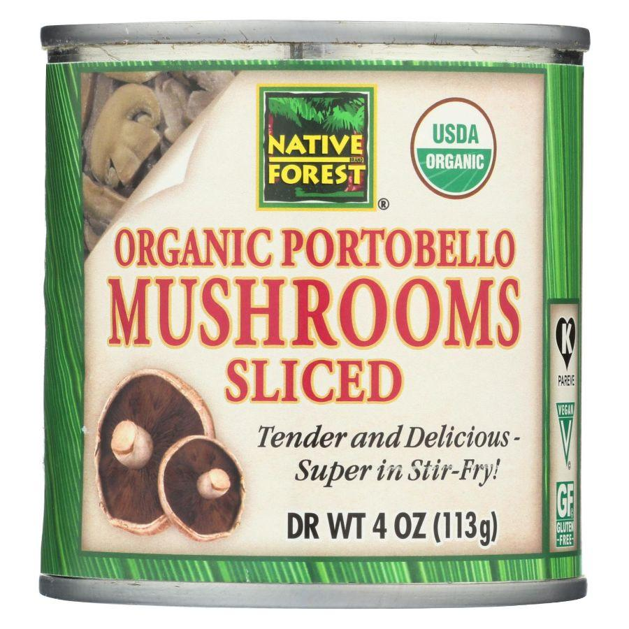 Native Forest Organic Portobello Mushrooms Sliced Gluten Free Vegan, 4 oz