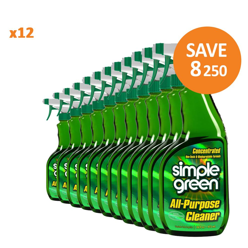Simple Green Original All-Purpose Cleaner Trigger,12x 16 oz