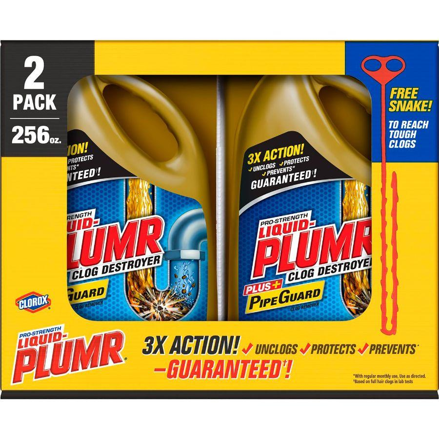 Clorox Liquid Plumer Clog Destroyer, 2x 128 Oz