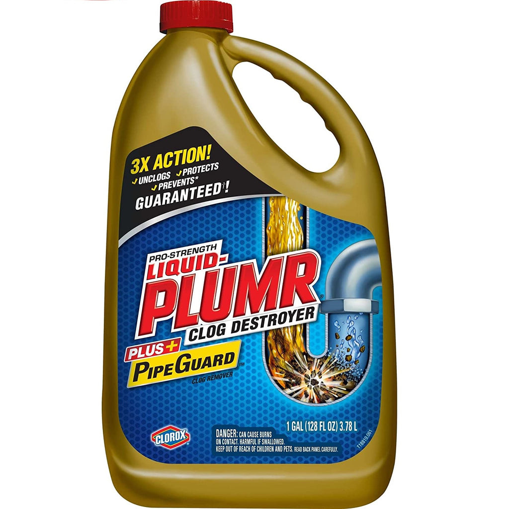 Clorox Liquid Plumr Clog Destroyer, 2x 128 Oz