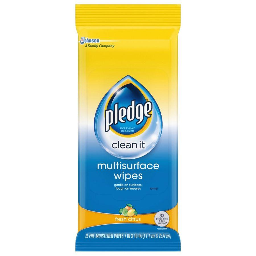 Pledge Multisurface Wipes, 25 Ct