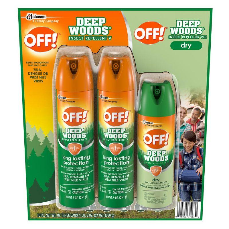 OFF! 2x 9 oz Deep Woods + 1x 6 oz Dry insect Protection