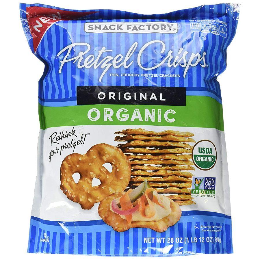 Snack Factory Organic Original Pretzel Crisps, 28 oz