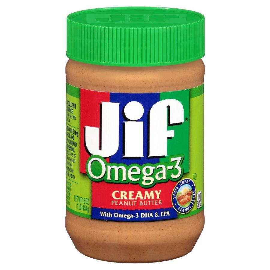 Jif Peanut Butter Omega 3 Smooth, 16 oz