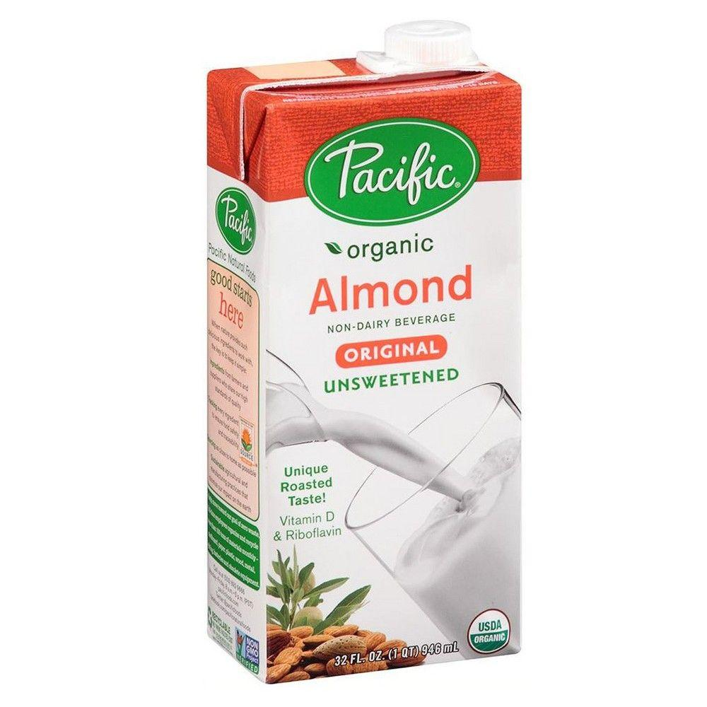 Pacific Organic Unsweetened Almond milk -Original, 32 oz