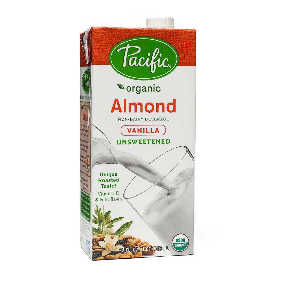 Pacific Organic Unsweetened Almond milk -Vanilla, 32 oz