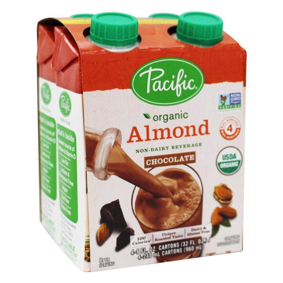 Pacific Organic Almond milk -Chocolate, 4x 8 oz