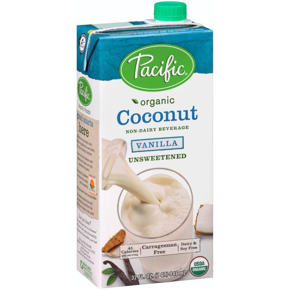 Pacific Organic Unsweetened Coconut milk -Vanilla, 32 oz