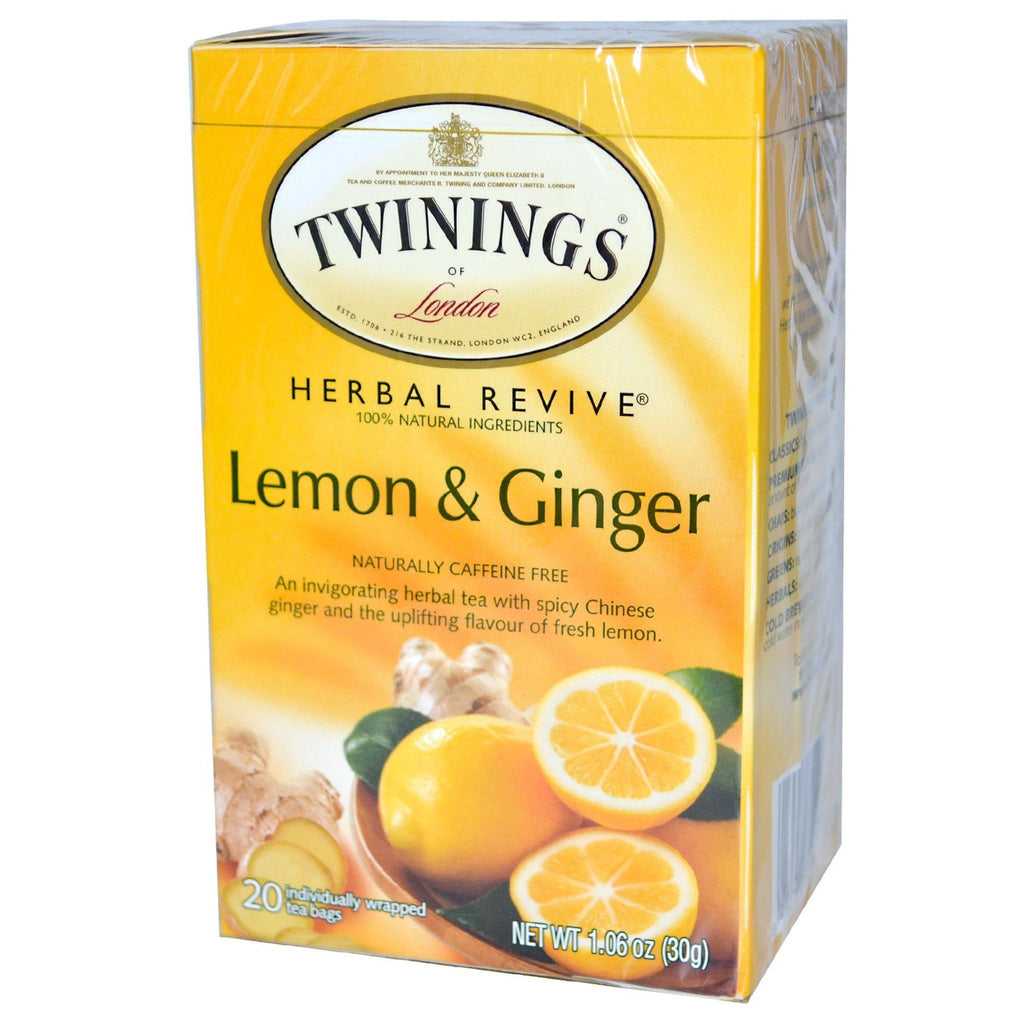 Twinings Lemon & Chinese Ginger Tea, 20 ct
