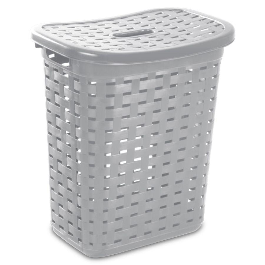 Sterilite Weave Laundry Hamper, Grey