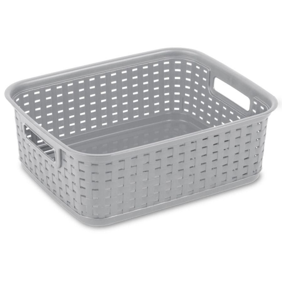 Sterilite Short Weave Basket, Grey
