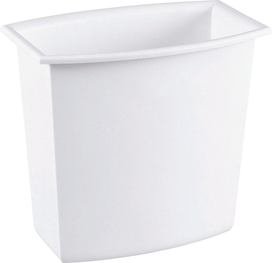 Sterilite Rectangular Waste Basket White, 18 qt