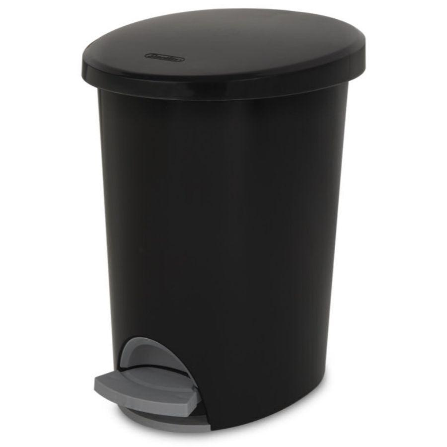 Sterilite Step On Waste basket Black, 2.6 Gal