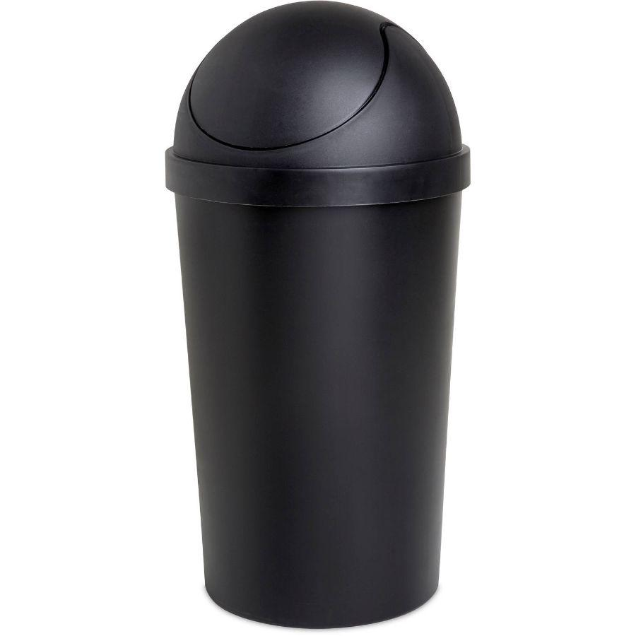 Sterilite Round Swingtop Wastebasket Black, 12 qt