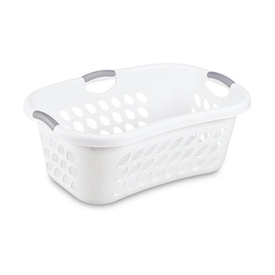 Sterilite Ultra HipHold White Laundry Basket, 44 L