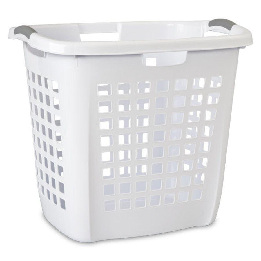 Sterilite Ultra™ Easy Carry Hamper White, 56.5L x 44.1W x 50.5H cm