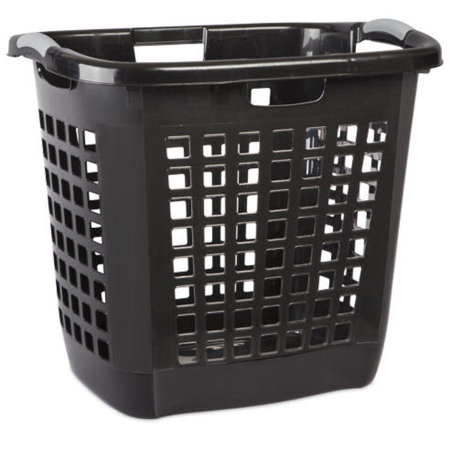 Sterilite Ultra™ Easy Carry Hamper Black, 56.5L x 44.1W x 50.5H cm
