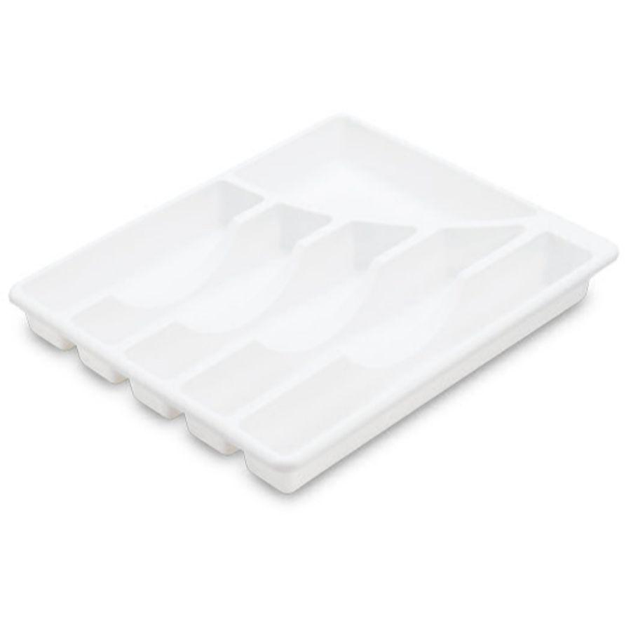 Sterilite 6 Compartments Cutlery Tray White