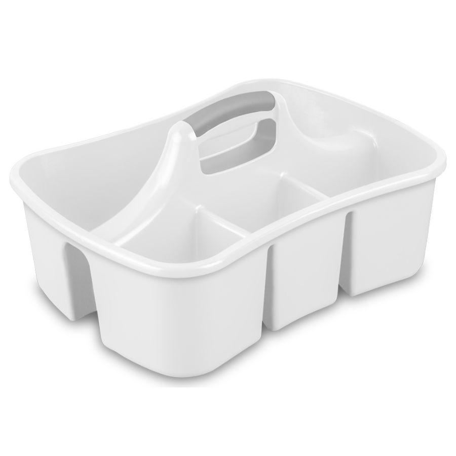 Sterilite Divided Caddy White, 45L x 34W x 22.5H cm