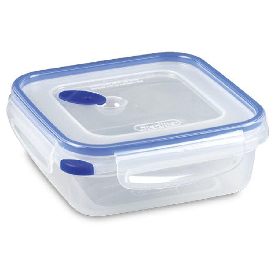 Sterilite Food Container Ultra Seal Square, 4 Cup (Microwave, Dishwasher & Freezer Safe)