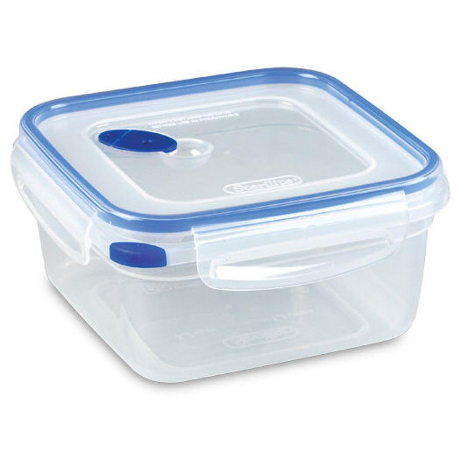 Sterilite Food Container Ultra Seal Square, 5.7 Cup (Microwave, Dishwasher & Freezer Safe)
