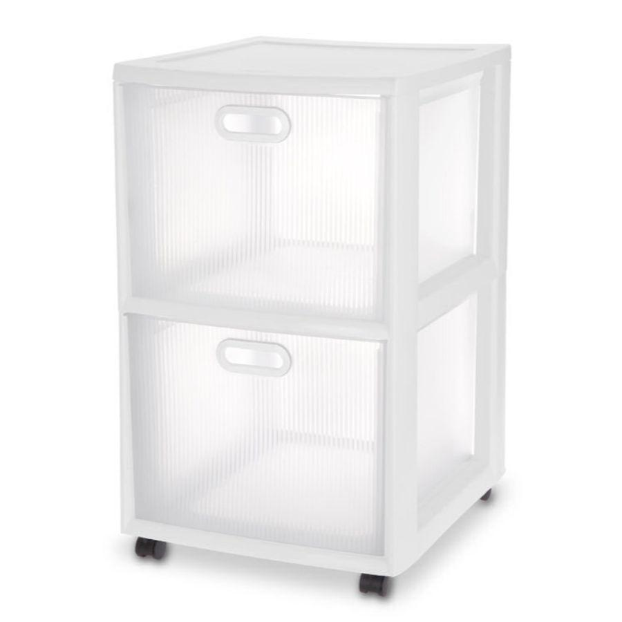 Sterilite 2 Drawer Ultra™ Cart 45.7L x 40.6W x 66.7H