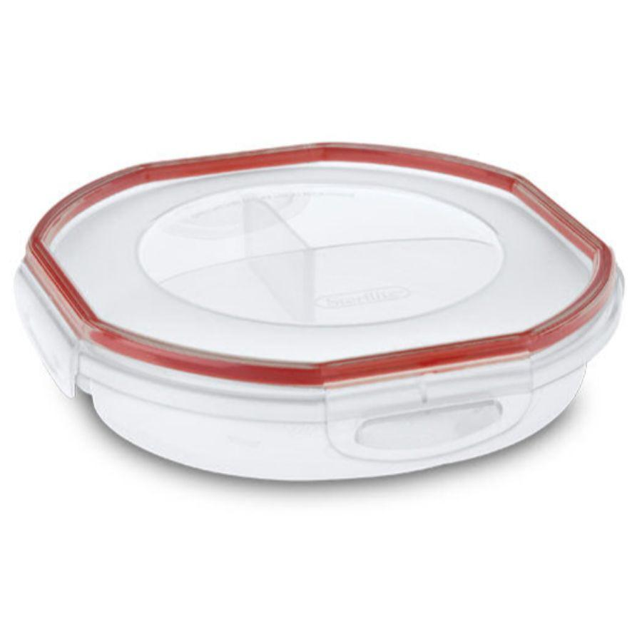 Sterilite Ultra seal Round Divided Dish, 4.8 Cup (Microwave, Dishwasher & Freezer Safe)