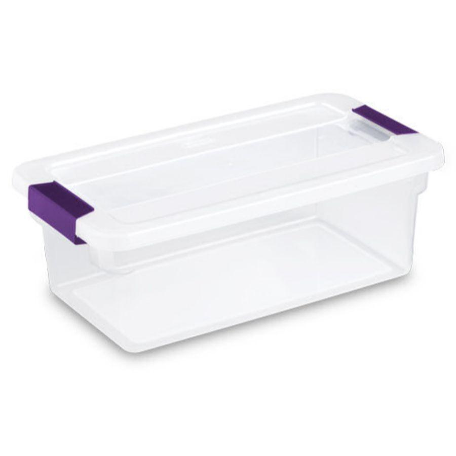 Sterilite Clear View Latch Box, 6 qt