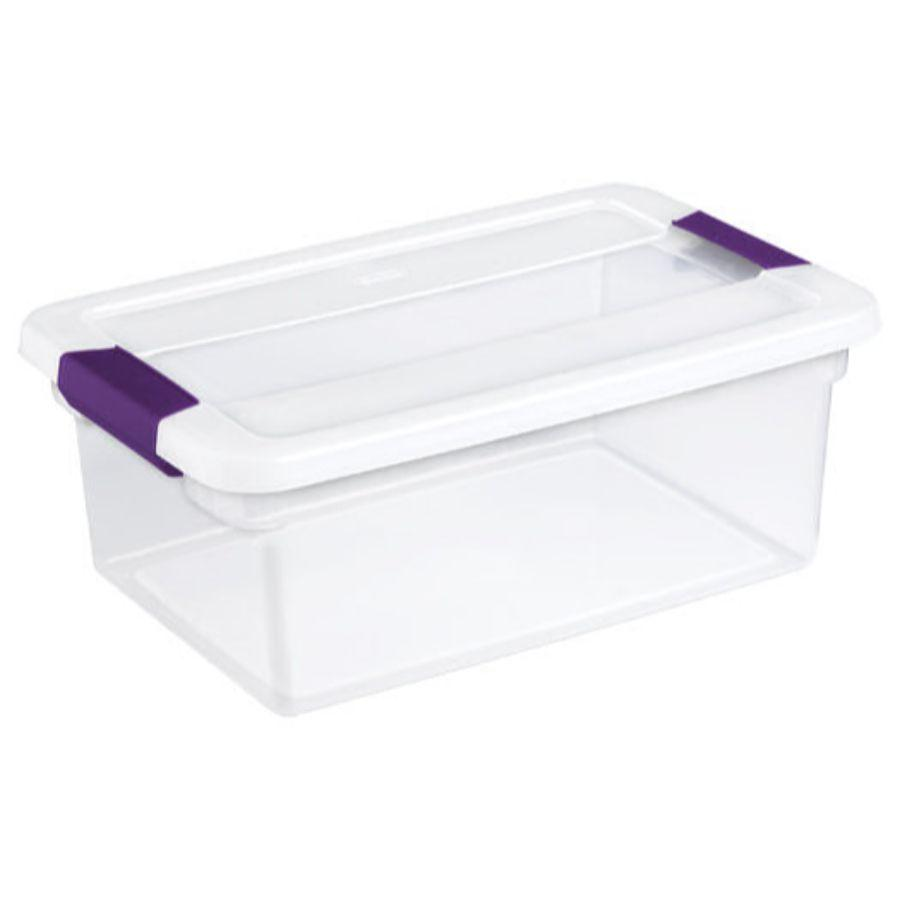 Sterilite Clear View Latch Box, 15 qt