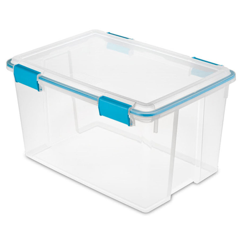 Sterilite, Gasket Box Blue Aquarium, 54 qt