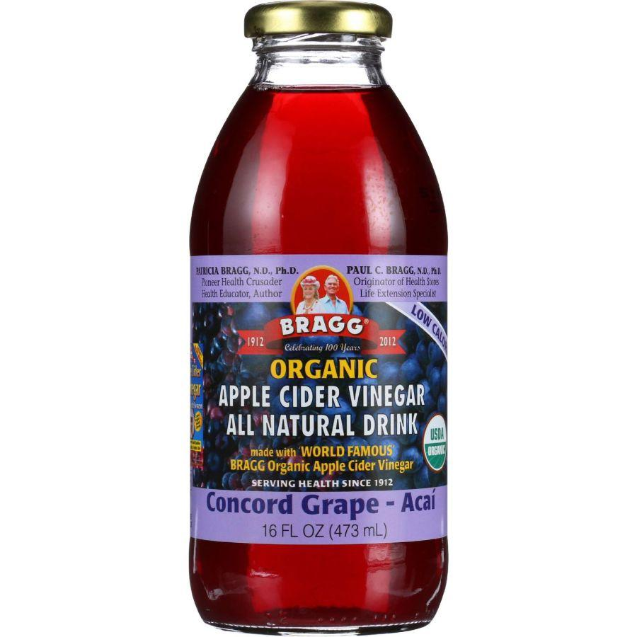 Bragg Organic Apple Cider Vinegar Concord Grape-Acai, 16 oz