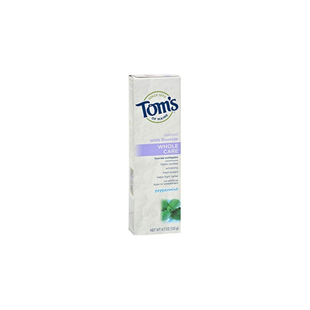 Tom's of Maine, Whole Care Toothpaste Peppermint, 4x 4.7 oz