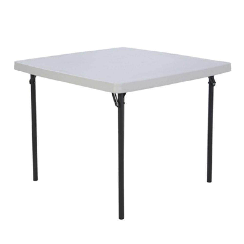 Lifetime,  37 Square Folding Table White/Granite
