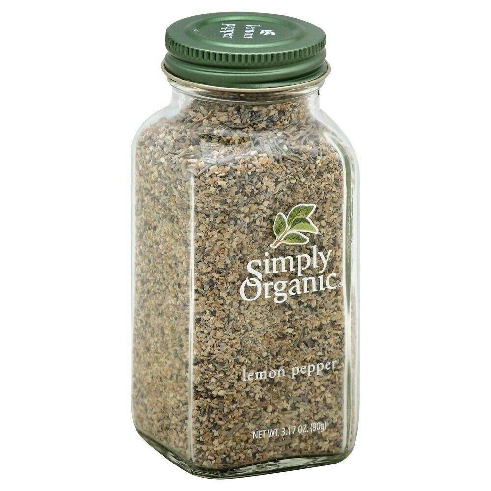Simply Organic Lemon Pepper, 3.17 oz
