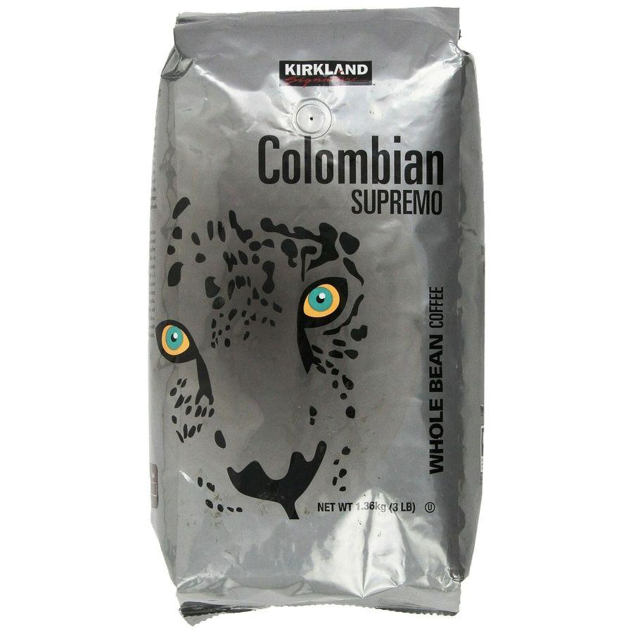 Kirkland Signature Colombian Supremo Whole Bean, 3 Lbs
