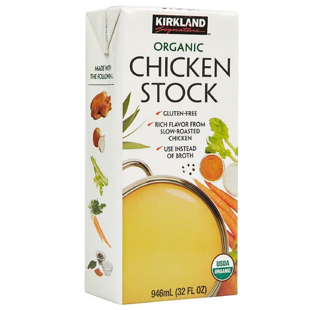 Kirkland Signature, Organic Chicken Stock, 6 x 946 ml