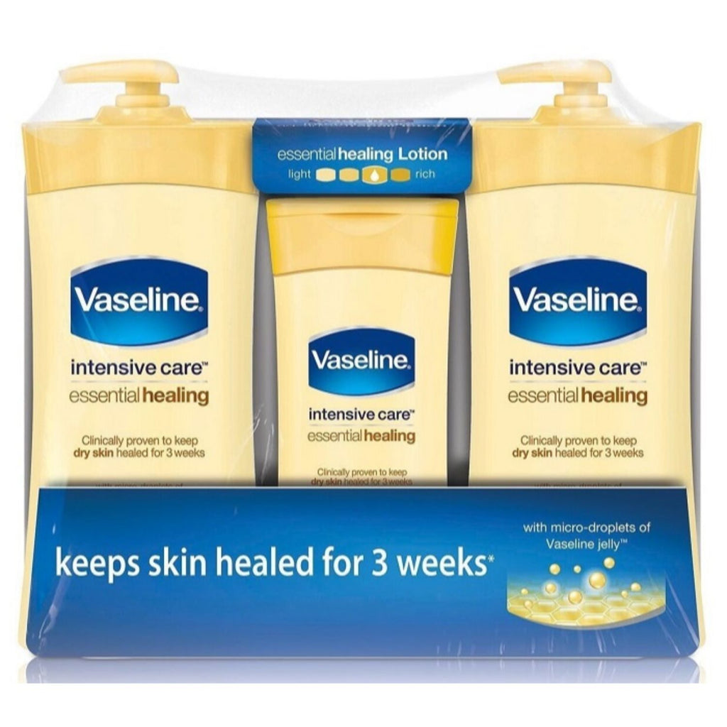 Vaseline, Intensive Care Essential Healing, 2 x 20.3 oz + 10 oz