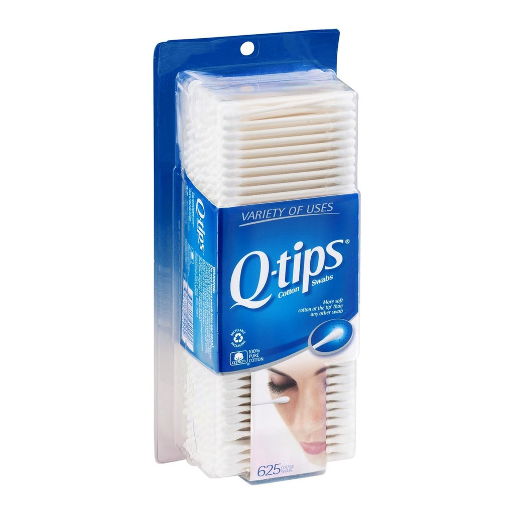 Q-Tips, Cotton Swabs, 3 x 625 ct