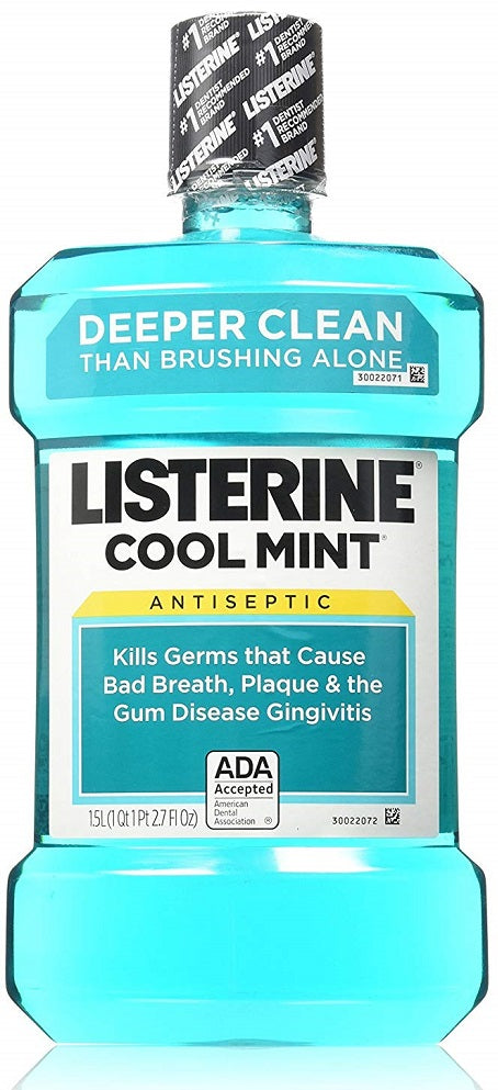 Listerine Mouthwash Ultraclean Cool Mint , 1.5 L