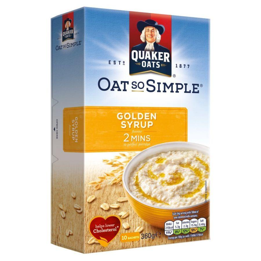Quaker Oat So Simple Golden Syrup, 360 g