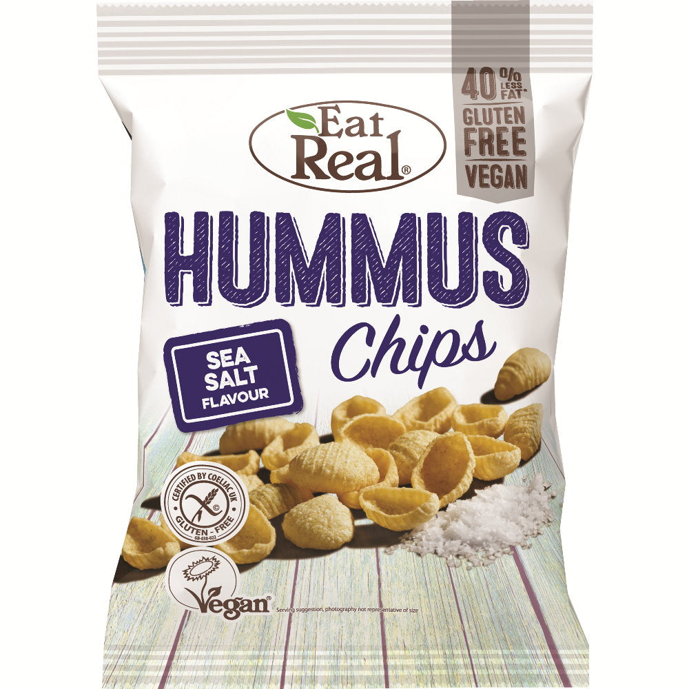 Eat Real Hummus Chips Sea Salt, 135 g