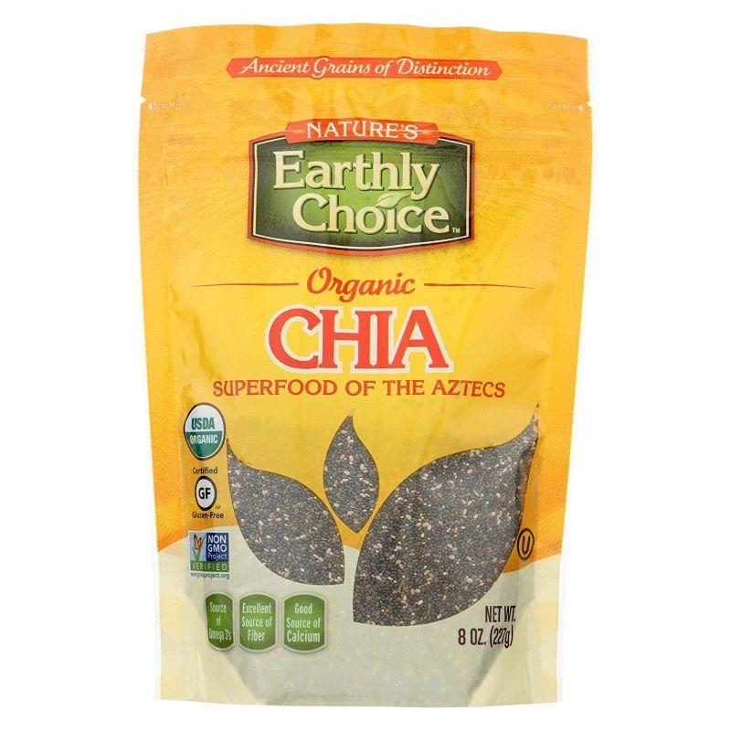 Nature's Earthly Choice Organic Gluten Free Chia Seeds, 8 oz