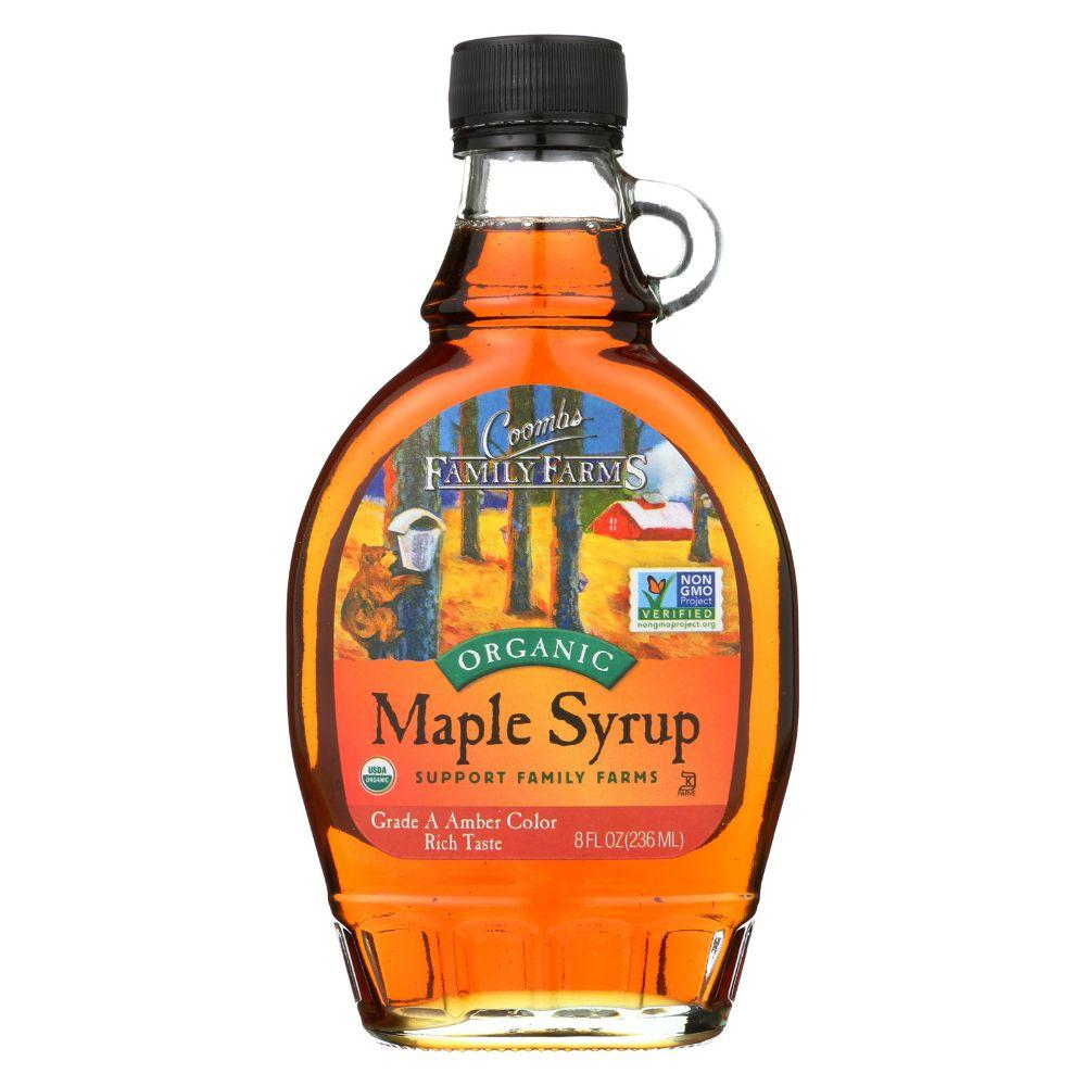 Coombs Organic Maple Syrup Grade A Amber Color, 8 oz