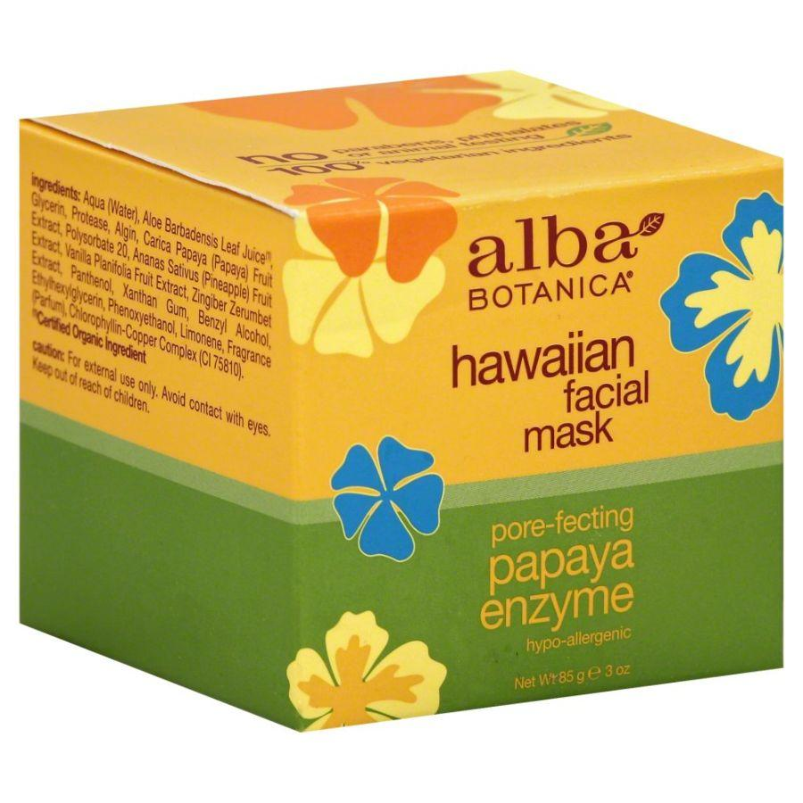 Alba Botanica Hawaiian Facial Mask Papaya Enzyme, 3 oz