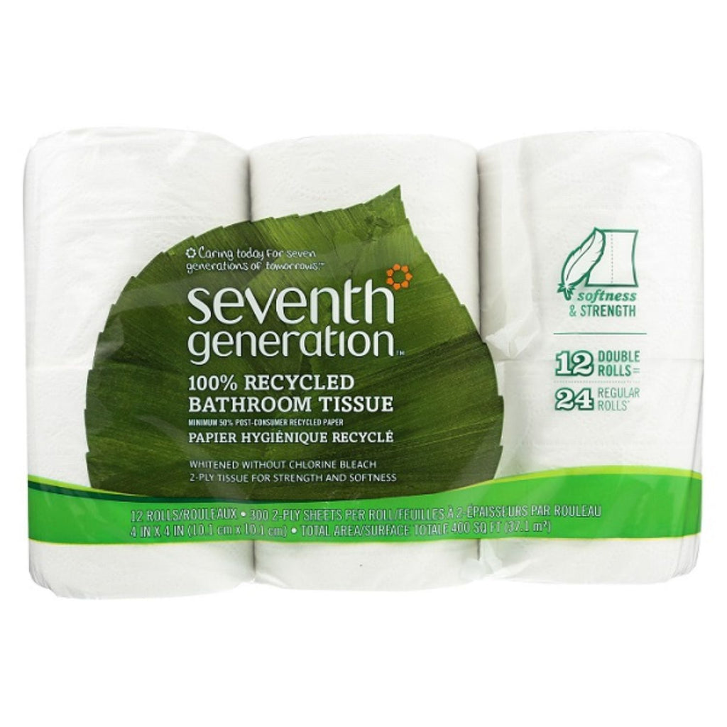 Seventh Generation, Bathroom Tissues 2-Ply, 12 roll x 240 Sheet
