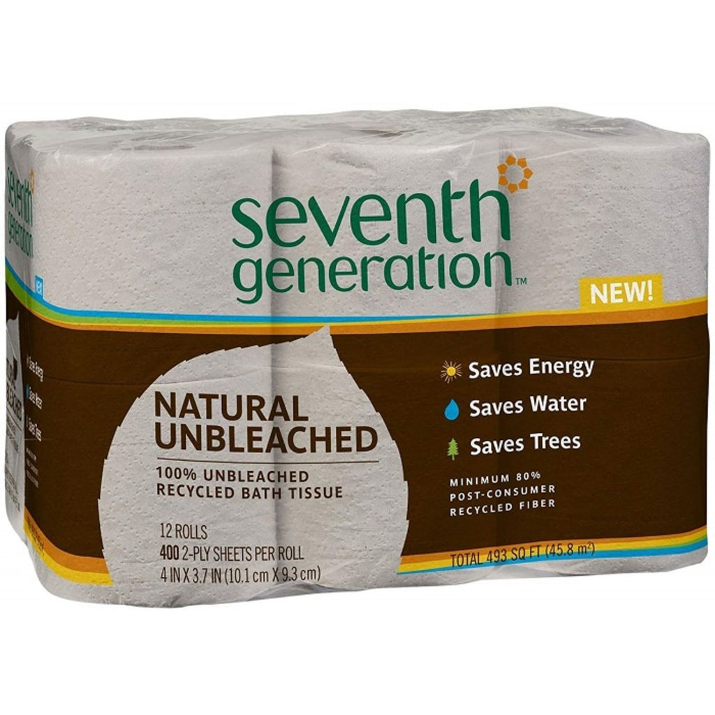 Seventh Generation, Natural Unbleached Bath Tissues, 12x 400