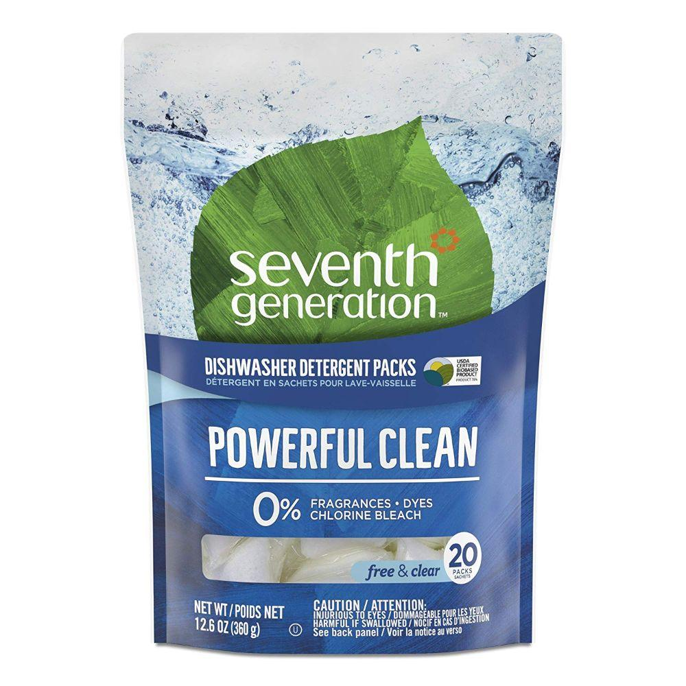 Seventh Generation, Dishwsher Detergent Pack Powerful Clean, 20 ct