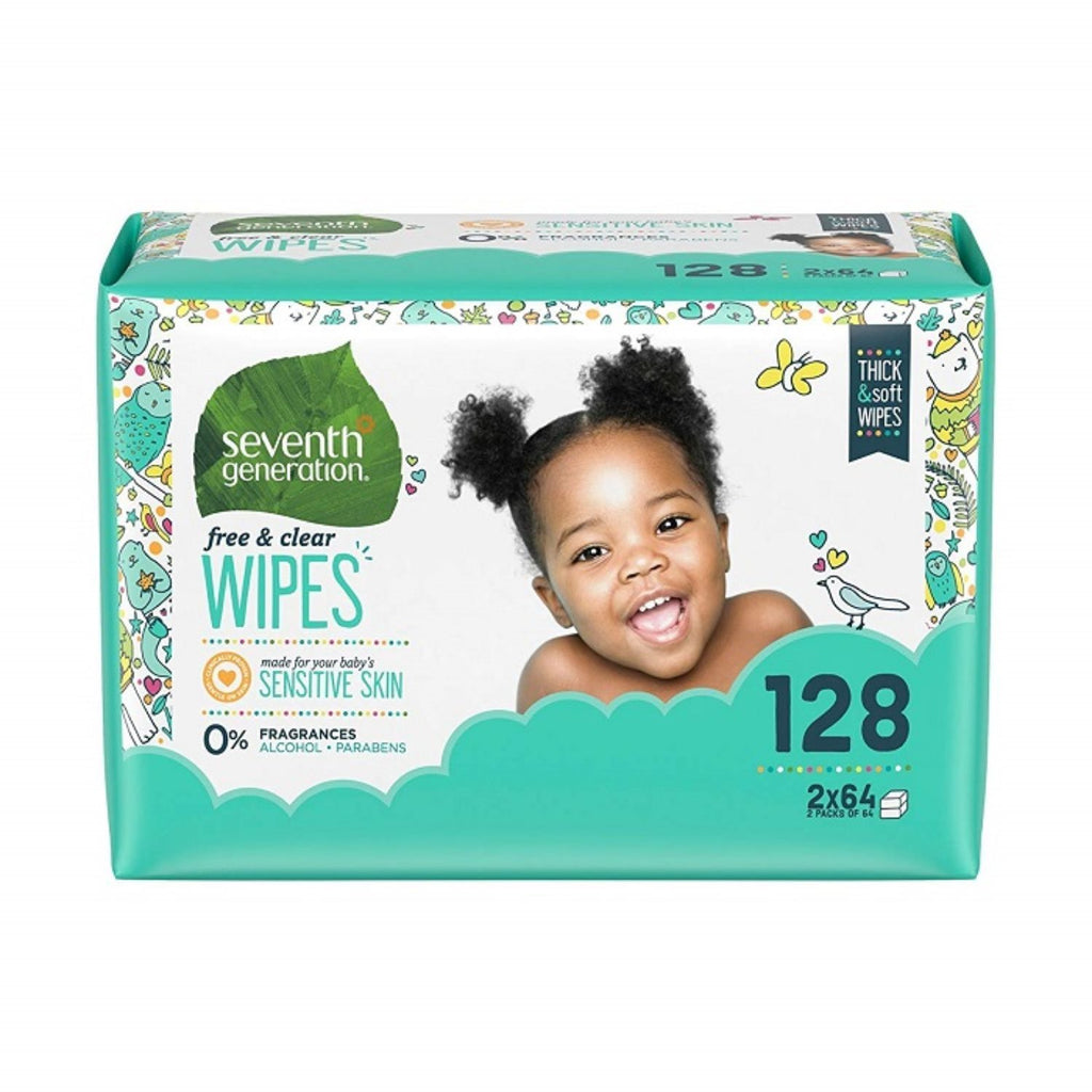 Seventh Generation, Baby Wipes Free & Clear Refill x128