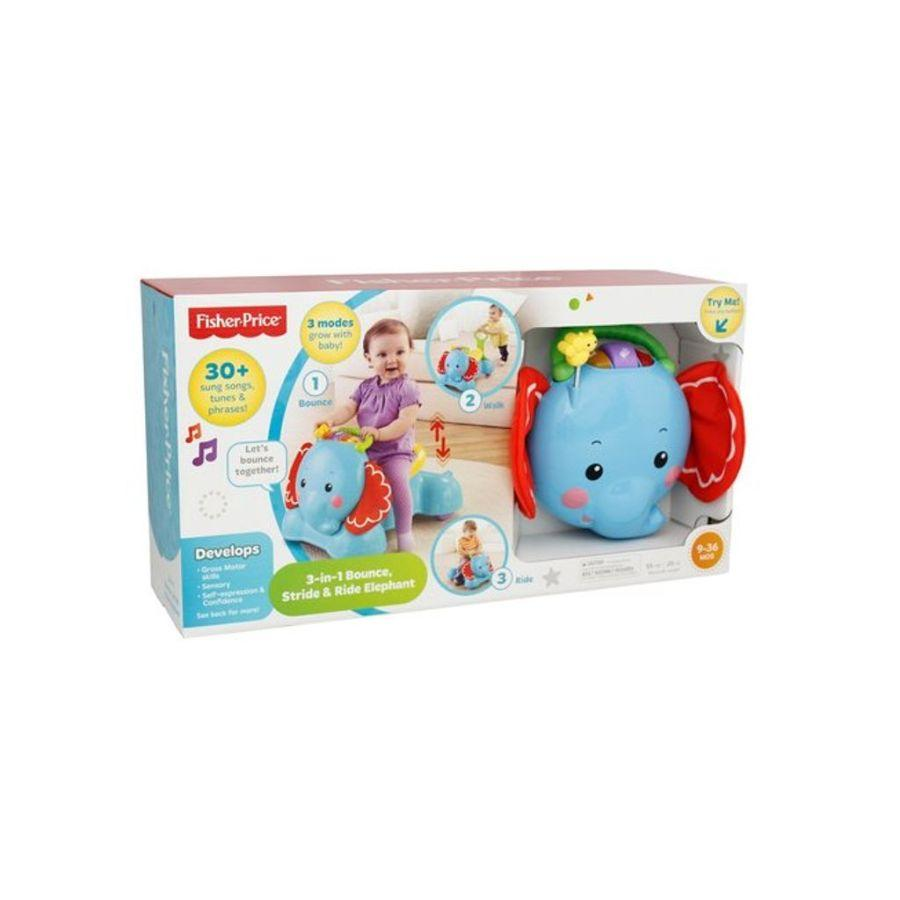 Fisher-Price Bounce Stride, and Ride 3-in-1 Elephant